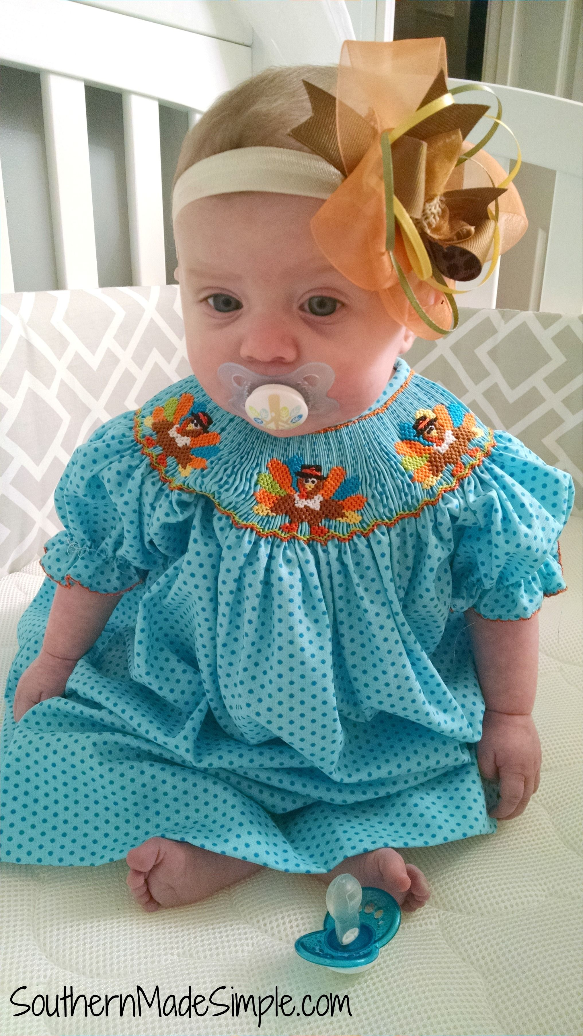 Girls Dress Fall Dress Pumpkin Smocked Dress Thanksgiving Smocked Dress Fall Smocked Dress Smocked Dress Smocked Dress