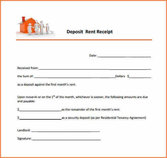 8 Rent Deposit Receipt Format Return Receipt Form Receipt Template Receipts Template Templates