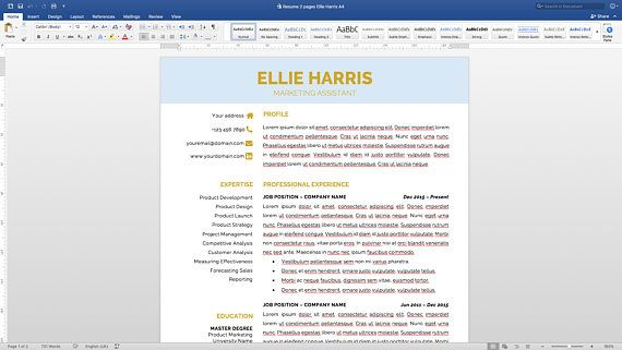 Resume template with a cover letter and references template! Get a