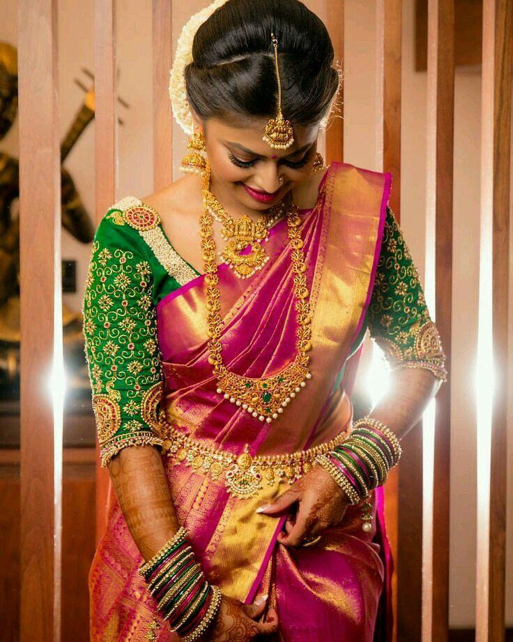 Silk Sarees Brocade Lehenga Saris Indian Blouse Wear Designs Wedding Blouses