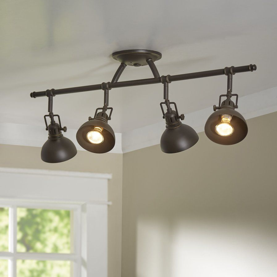 Modern Farmhouse Track Lighting Dollinger 4 Light Semi Flush Mount Lamparas Track Lighting
