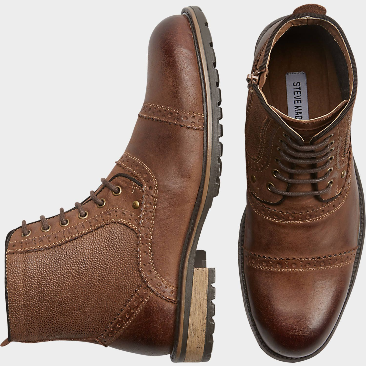 32d94ae39d5 Steve Madden Sifter Tan Boots at Men's Wearhouse. | For Him | Tan ...