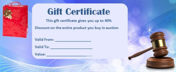 Silent Auction Gift Certificate samples Silent auction gift - certificate samples