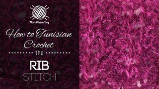 tunisian crochet stitches - YouTube