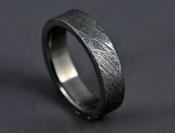 Meteorite Anium Wedding Ring Gibeon
