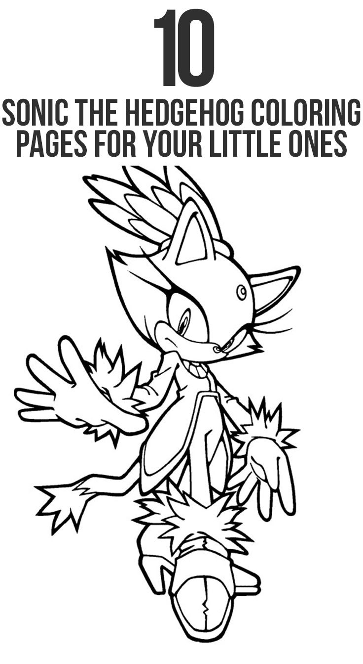 Top 10 Sonic The Hedgehog Coloring Pages For Your Little Ones