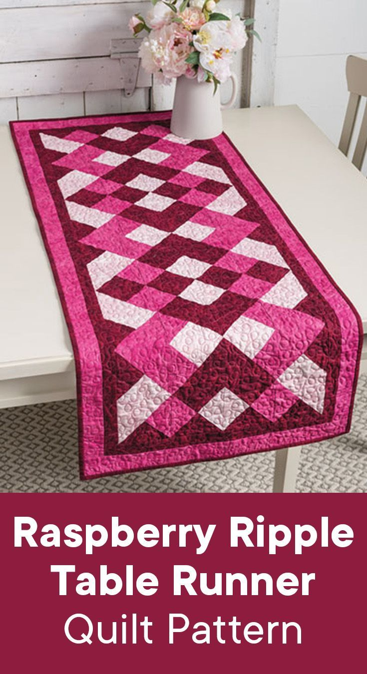 Beautiful quilted table runner pattern to brighten up your