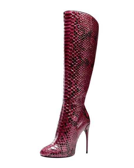 9843a76165e Gucci Stiletto Snake Skin Boots.........Hotttt