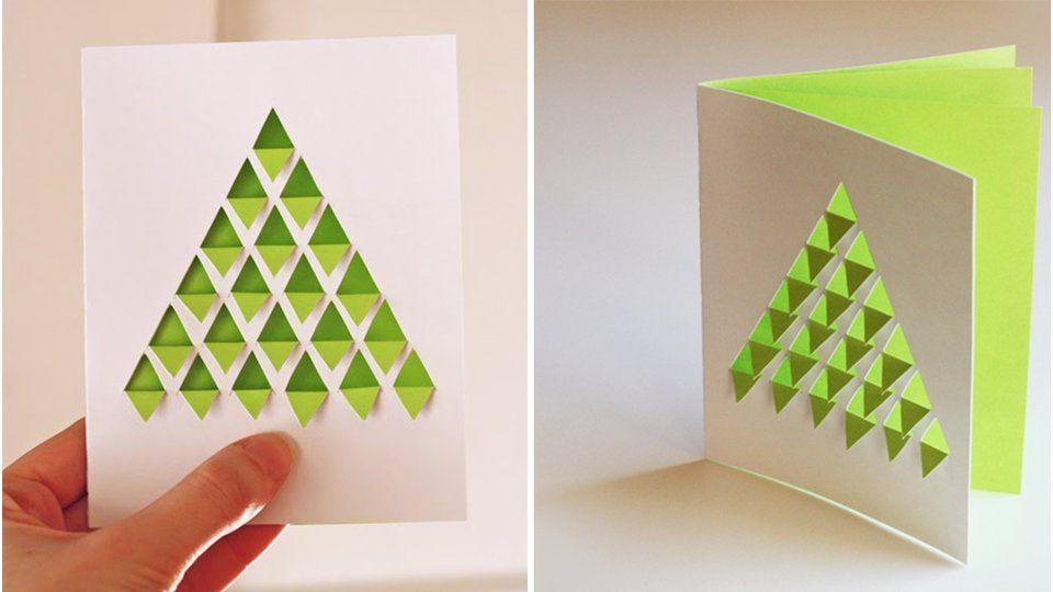carte de noel en relief 30 idées Pinterest pour fabriquer ses cartes de voeux | Cartes de