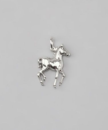 Take a look at this Sterling Silver Pony Charm by Five Little Birds Jewelry on #zulily today!