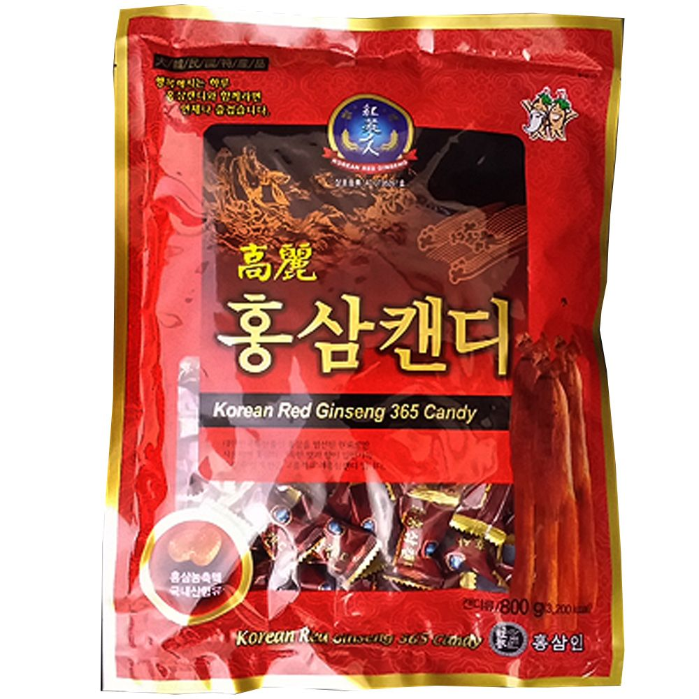 Made of an extract of well grown redk ginseng roots. The mixture of extracts and powder is a well grown red ginseng roots. You can feel the native aroma and astringent taste of ginseng with a touch. Good for refreshment while driving and jogging. Efficacy of Ginseng Candy -Boost the Immune System and Boost Energy and Stamina. Size : 800g