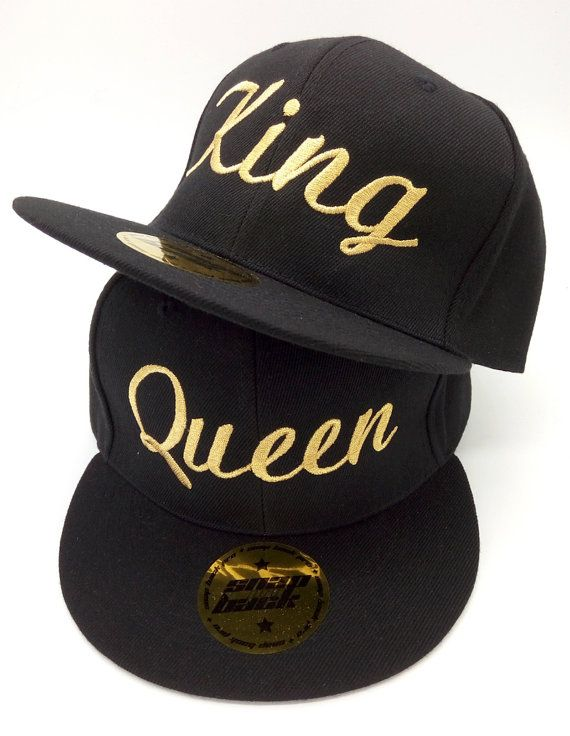 4a037161211 KING QUEEN caps for young lovers friends. High quality materials ...