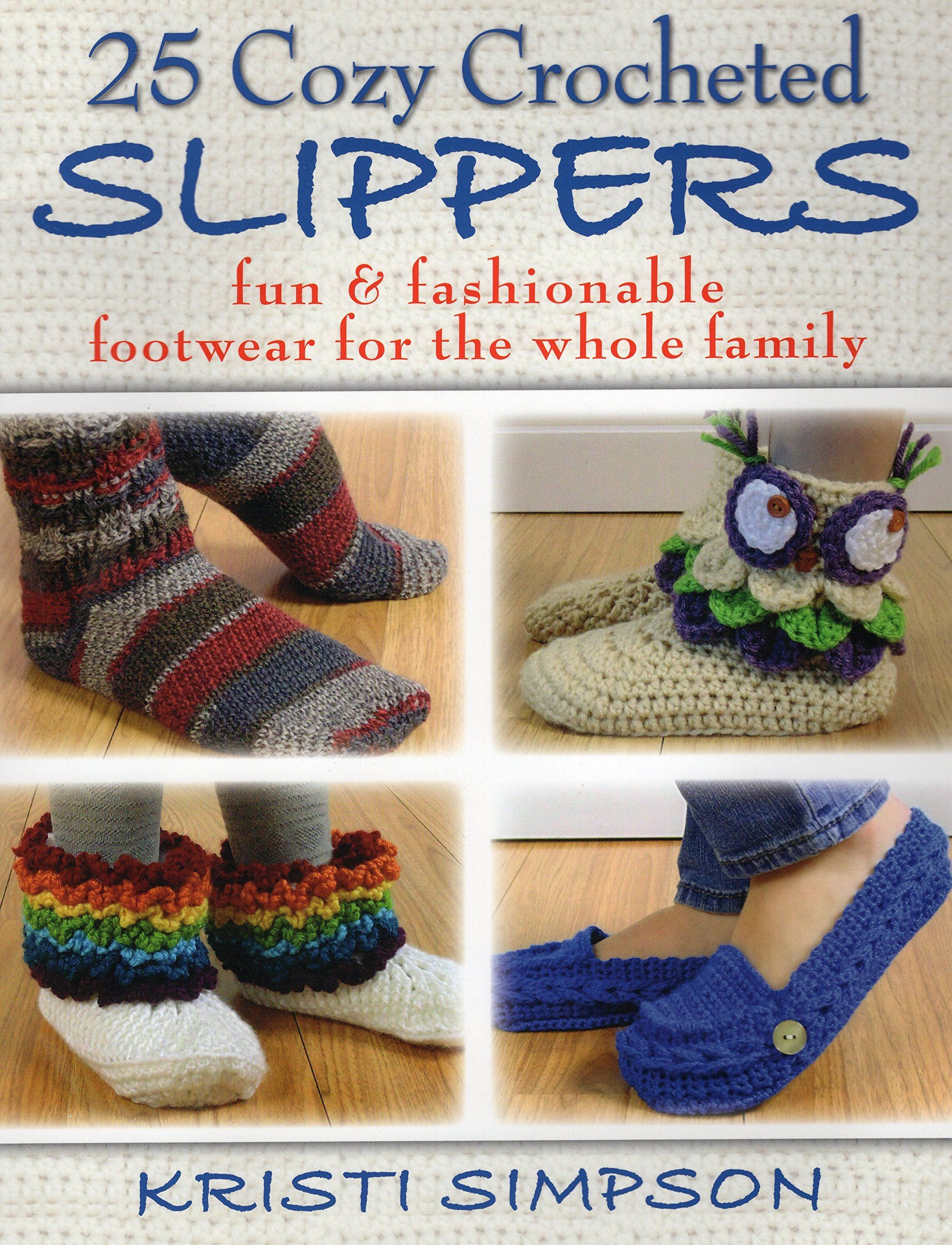 25 cozy crocheted slippers fun fashionable footwear for the 25 cozy crocheted slippers fun fashionable footwear for the whole family by kristi bankloansurffo Images