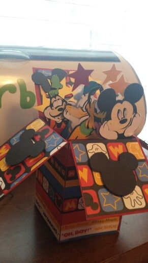 Micky mouse card in a box