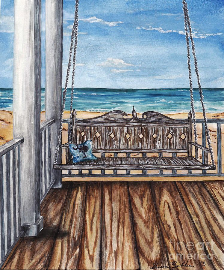 Porch Swing Swing Painting Porch Swing Beach Patio