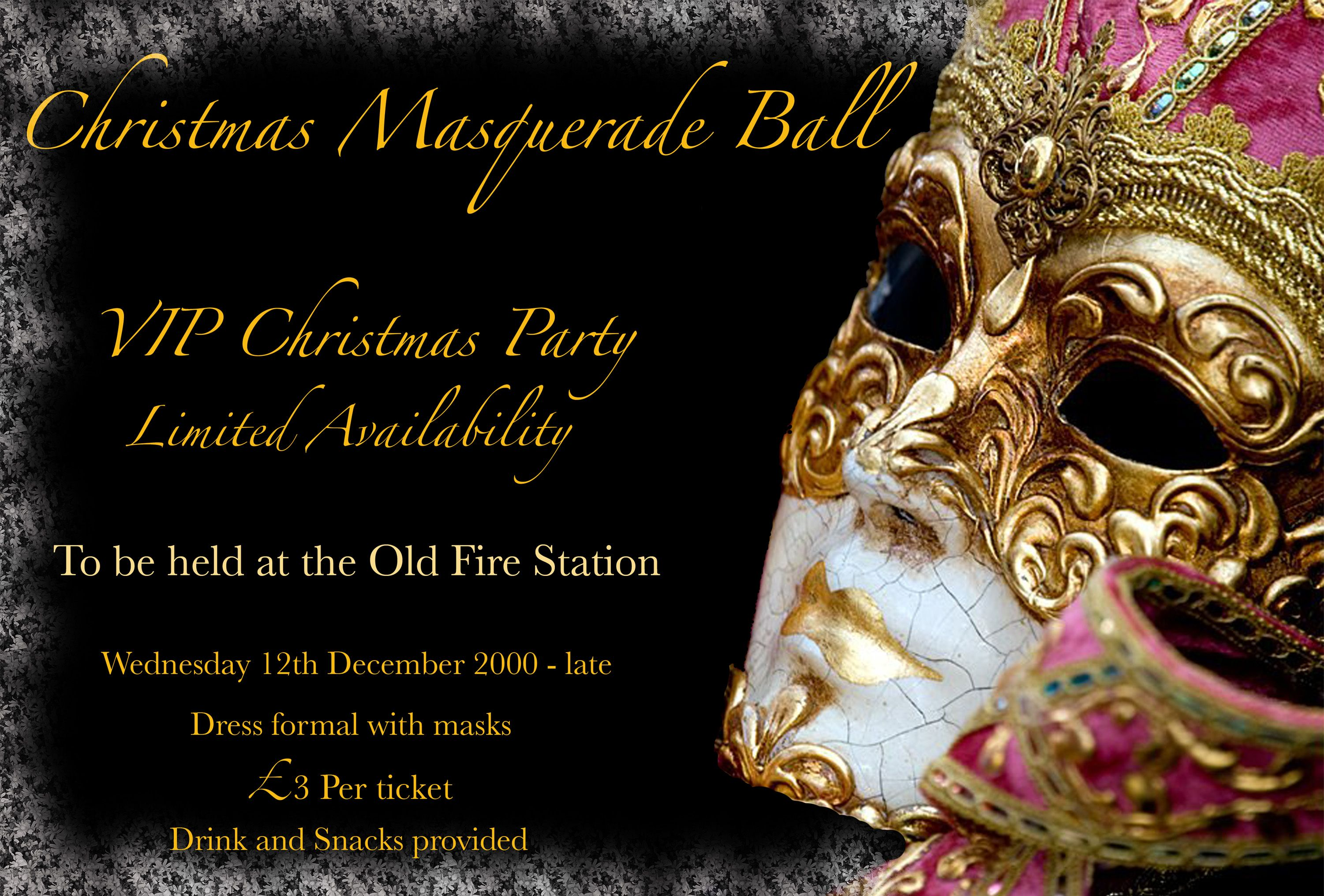 Ordinary Masquerade Christmas Party Ideas Part - 8: Masquarade Party Ideas | Masquerade Ball Christmas Party - Created In  Photoshop.