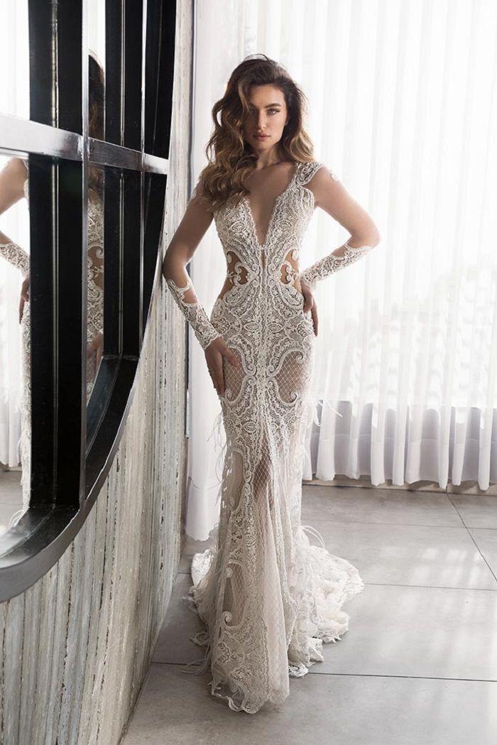 Glamour Bridal Collection by Riki Dalal long sleeves heavy embellishment mermaid wedding dress #weddingdress #weddinggown