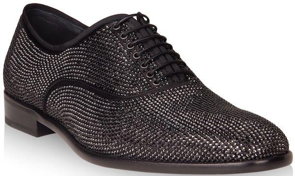 cb674708fcc Nick Cannon wears Salvatore Ferragamo Cometa Swarovski Crystal Oxford Shoes