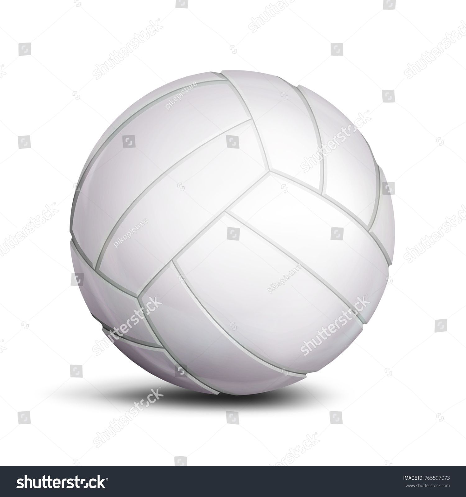 Volleyball Ball Vector Sport Game Fitness Symbol Illustration Ad Spon Vector Sport Volleyball Ball Sports Games Sport Volleyball Sports