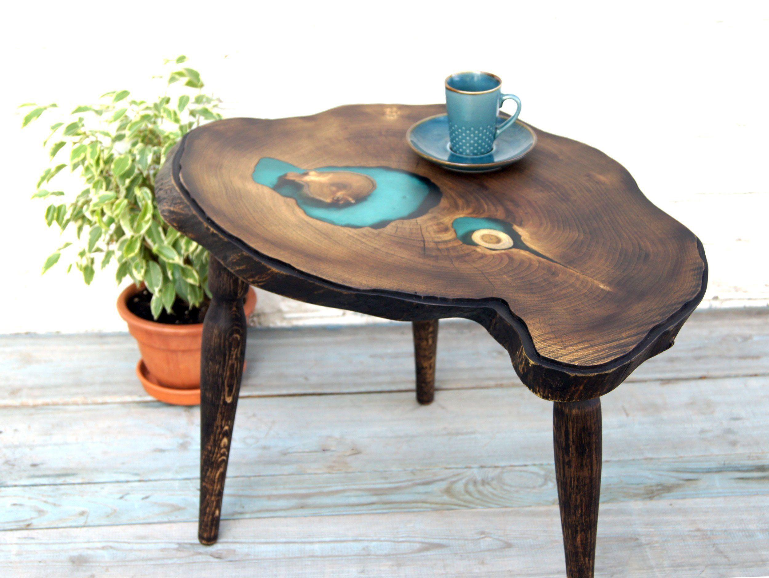coffee table live edge wood slab table