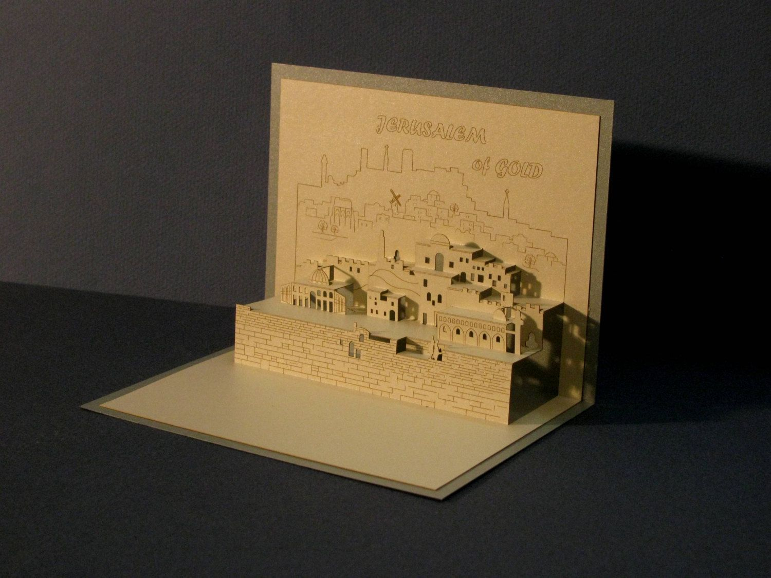 3d pop up greeting card architectural origami holy land jerusalem 3d pop up greeting card architectural origami holy land jerusalem judaica m4hsunfo