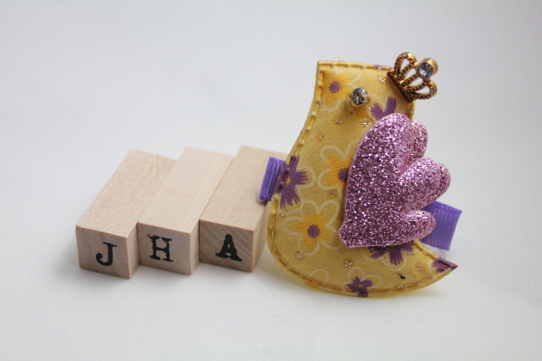 Children/Girls/Baby girl hair clip - Sparkling birdie princess by JigulinsHA on Etsy