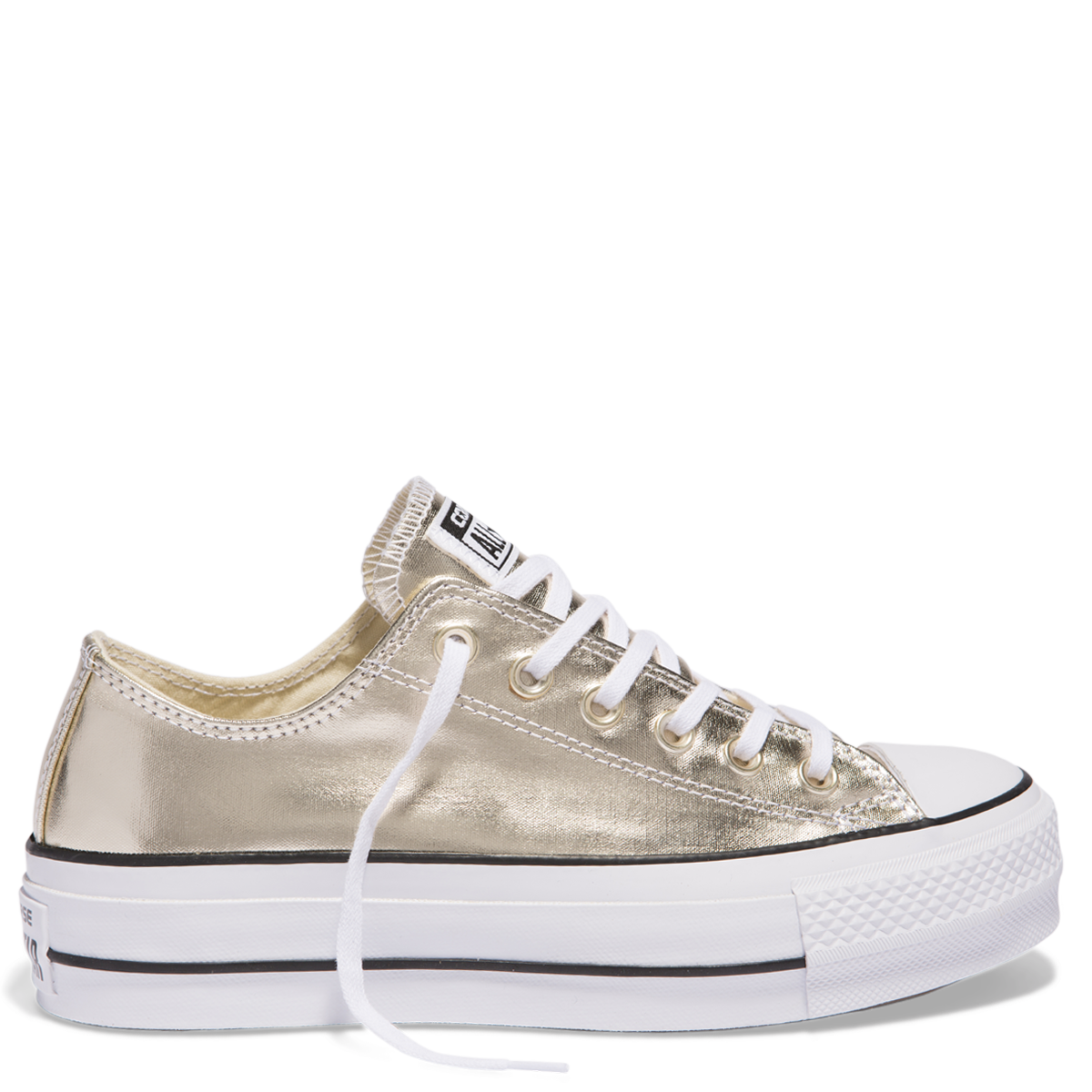 1ccade5dbb892 Chuck Taylor All Star Platform Lift Canvas Low Top Gold online at Converse.  Free shipping on orders over  75.