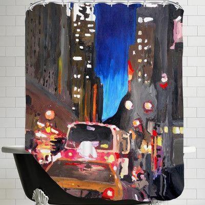 Brayden Studio Markus Bleichner Sabella Chrysler Street Scene 2 Shower Curtain