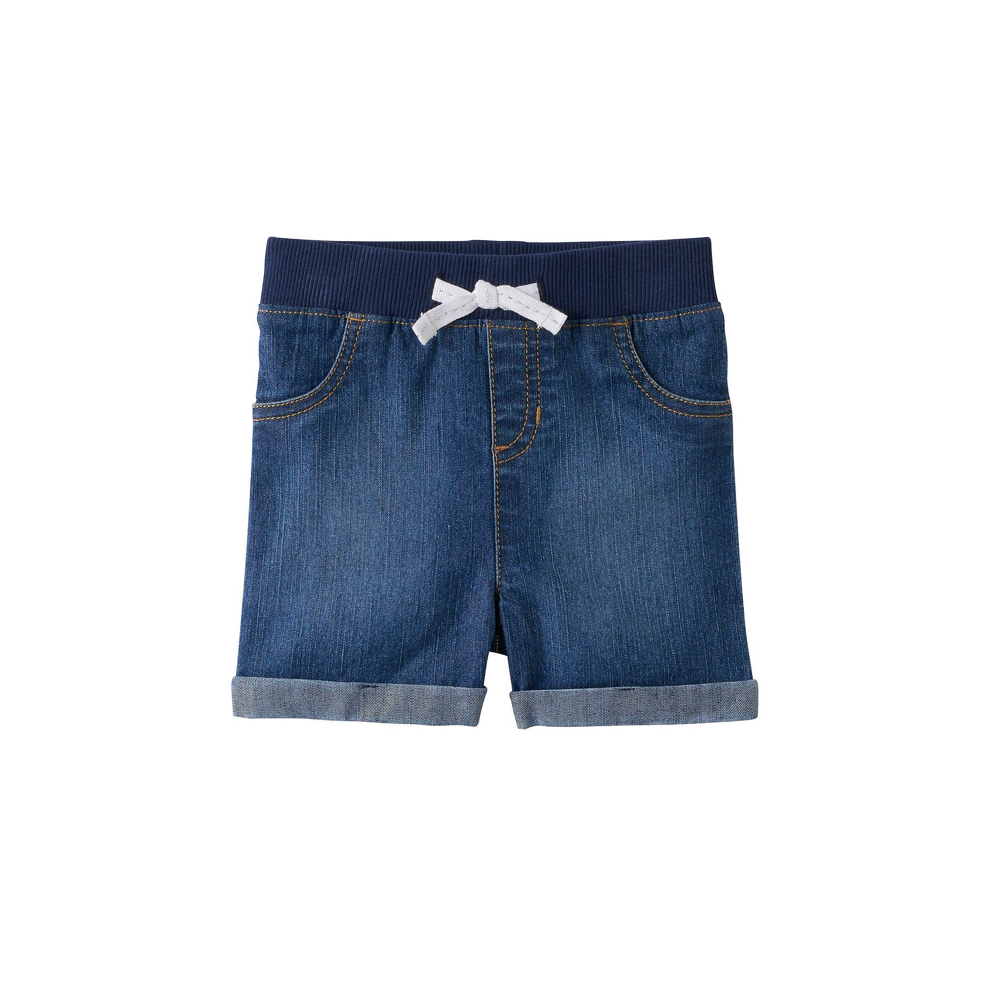 Baby Girl Jumping Beans® Cuffed Denim Shorts, Size: 18 Months, Blue Other