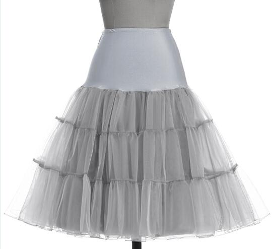 Women Ruffles Skir Sheer Mesh Tulle Voile A Line Swing Petticoat Pleated Long