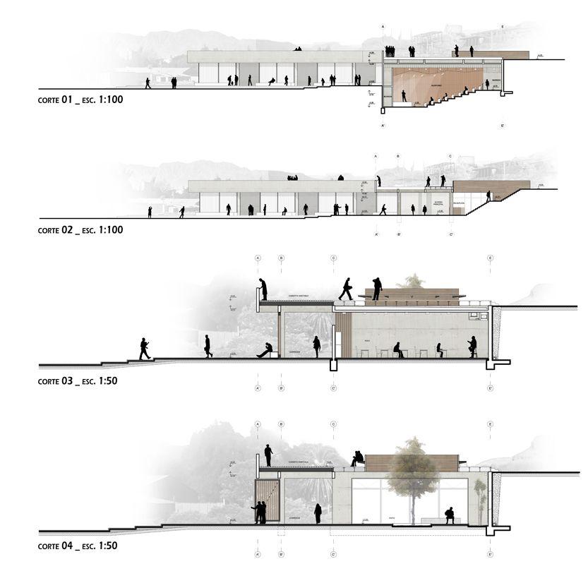 Plantas y cortes arquitectonicos buscar con google for Cortes arquitectonicos