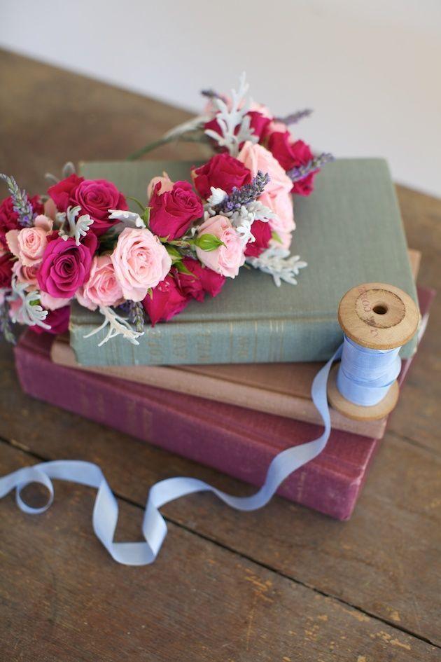 Wild Roses And Lavender DIY Floral Crown Tutorial