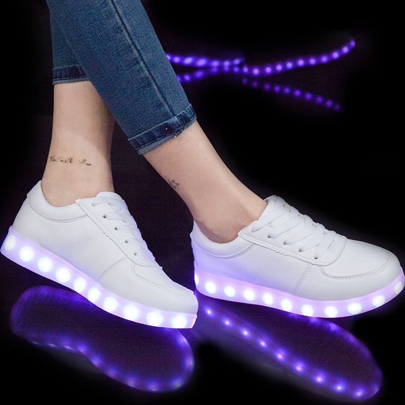 Eur27 40 Usb Glowing Shoes Luminous Sneakers For Kids Boys Led Shoes With Light Up Sole Krasovki Tenis Feminino Led Slip Kid Shoes Childrens Shoes Lit Shoes