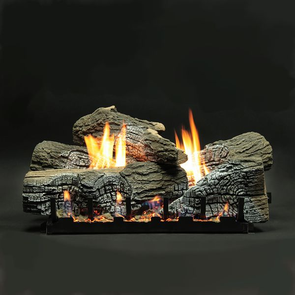 Empire Stacked Wildwood Ventless Refractory Ceramic Gas Log Set