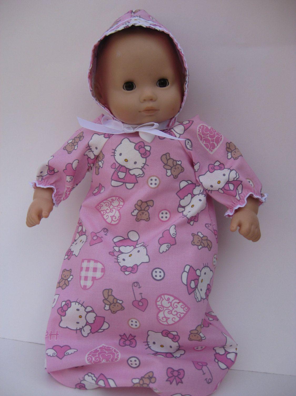 American Girl Bitty Baby Lavender Flowers White Sleeper *Sweet