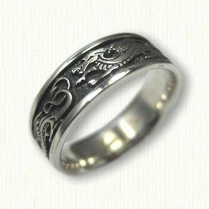 Celtic Dragon Knot Wedding Rings custom celtic wedding rings