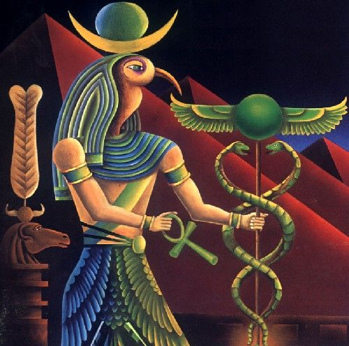 Image result for Thoth/hermes