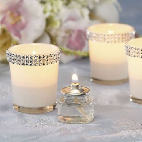 David Tutera Wedding Centerpiece Ideas: Rhinestone Votives - 12 Pack