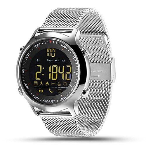 f924fdf9966 hhy ex18 pulseira de relógio inteligente pulseira de aço notícias pulso  luminoso discagem cronômetro profissional 50 metros super - BRL R 66