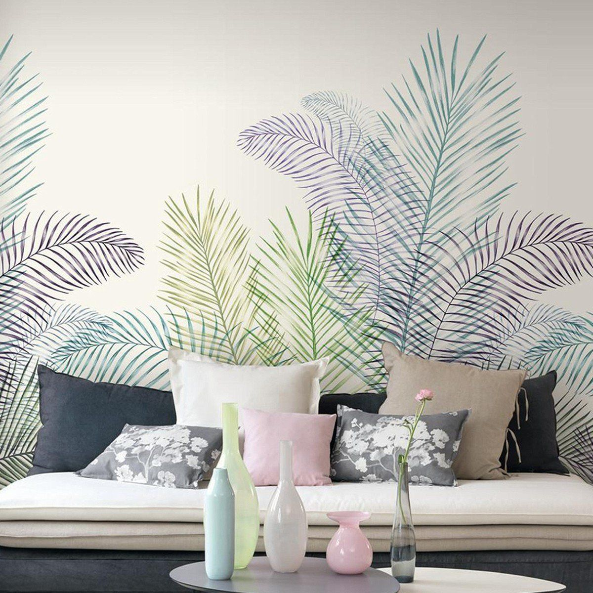 Exklusive Wandgestaltung Schlafzimmer Jardin Botanique In 2019 Living Room House Paint Interior