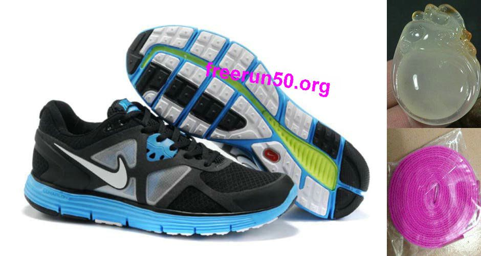 Mens Nike Lunarglide 3 Black White Blue Shoes