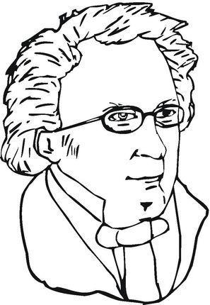 Franz Schubert coloring page | Atividades Musicalização | Pinterest
