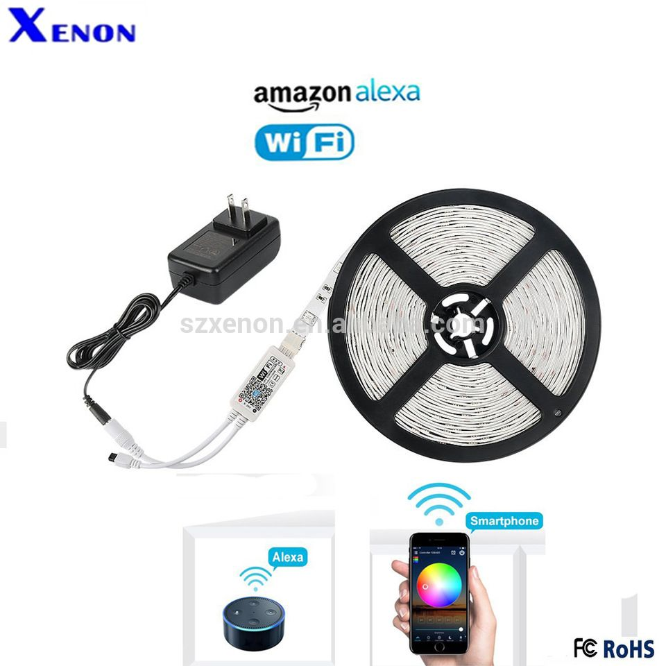 Xenon Wifi Rgb Led Strip Light Controller Complete Set Work With
