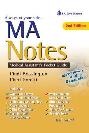 MA Notes Medical Assistant\u0027s Pocket Guide / Edition 2 Medical - podiatric medicine resume example