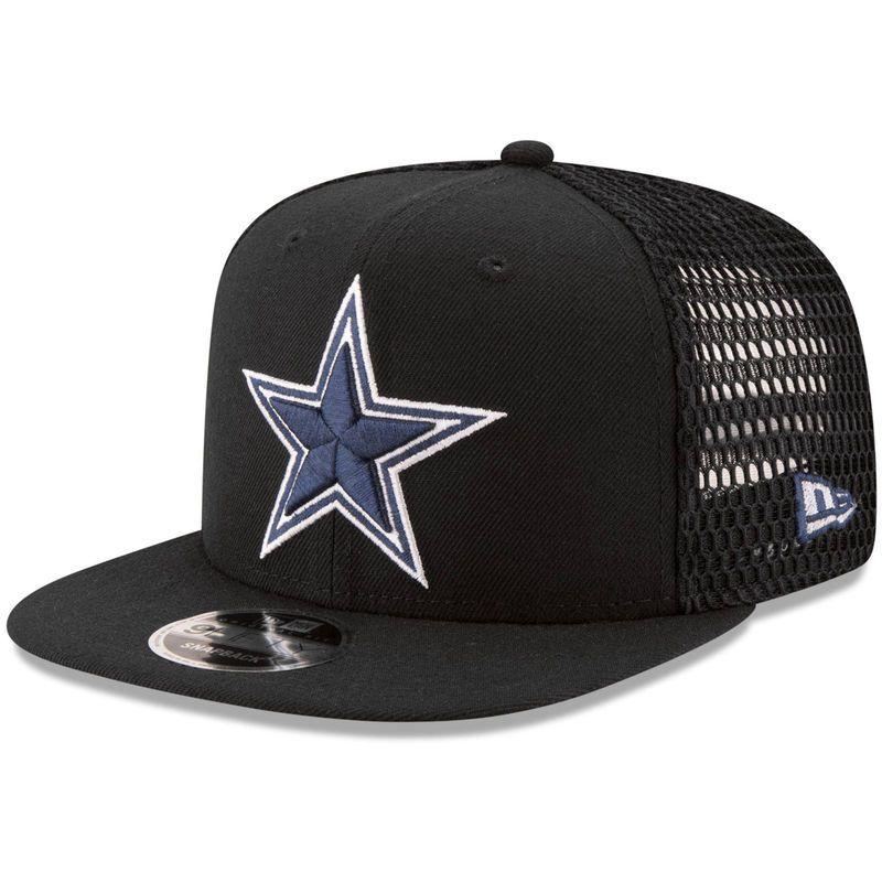 Dallas Cowboys New Era Mesh Fresh 9FIFTY Adjustable Snapback Hat - Black