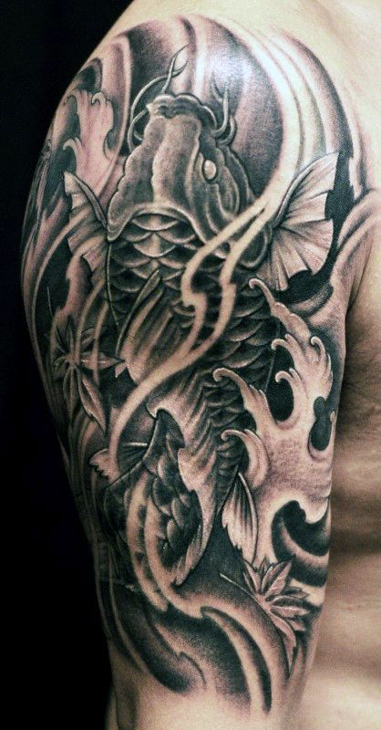 29+ Yin And Yang Koi Fish Tattoo Sleeve Pictures