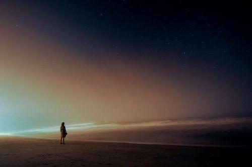 Night Sky Beach Alone