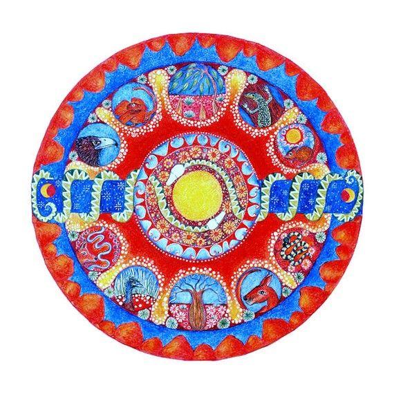 Wüste Landschaft Mandala Karte Mandala Kunst australische Wüste