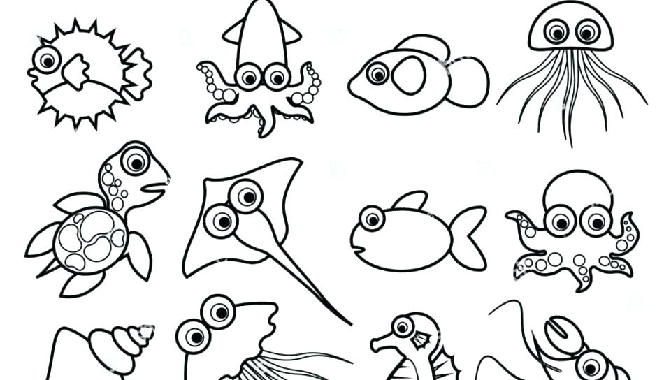Coloring Sheets For Kids Printable Ocean Animal Coloring Sheets