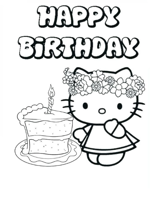 26 Hello Kitty Happy Birthday Coloring Pages Happy Birthday Coloring Pages Hello Kitty Colouring Pages Happy Birthday Printable